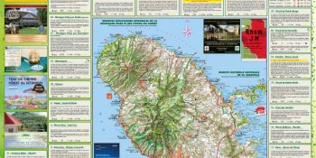 Map Martinique Guadeloupe | Tourist guide, maps, promo code of Martinique and Guadeloupe | Martinique Randonnées